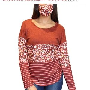 Fun sweater with face mask